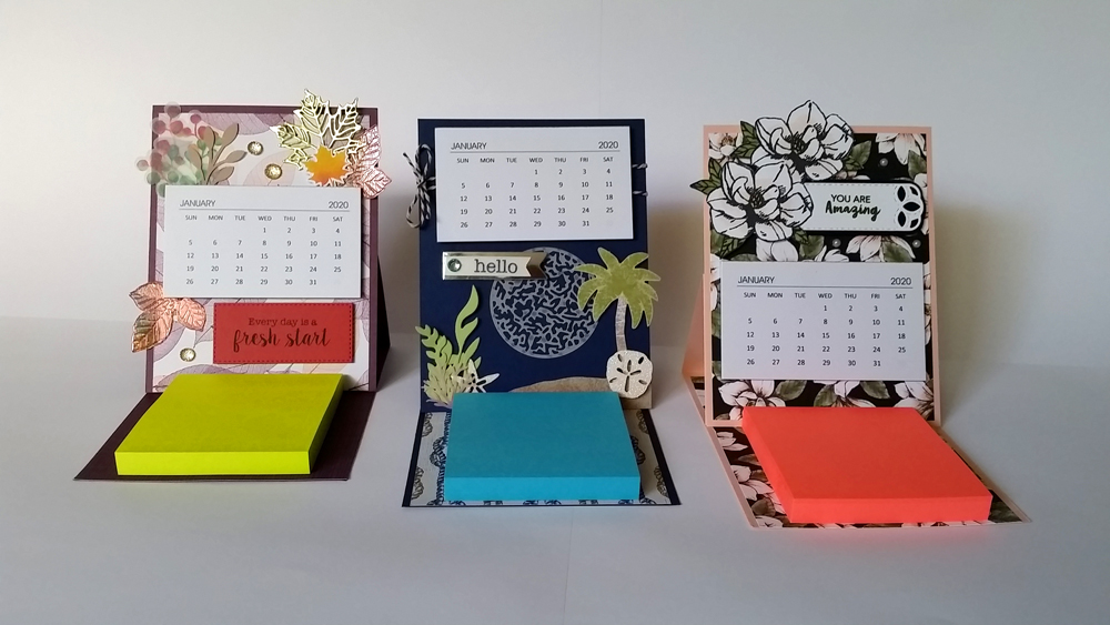 Calendar & Notepad Easel Card Tutorial