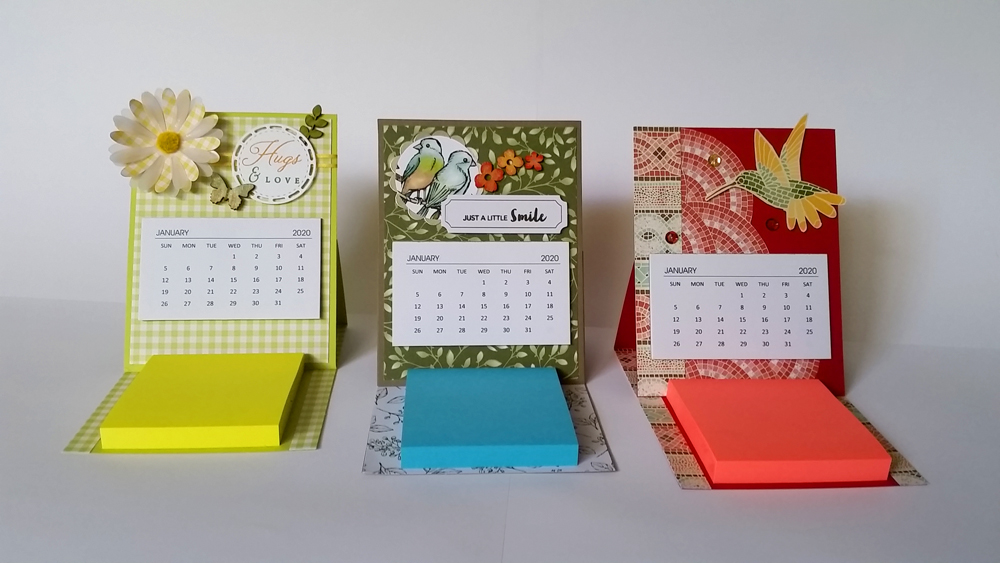 Calendar & Notepad Easel Card Tutorial